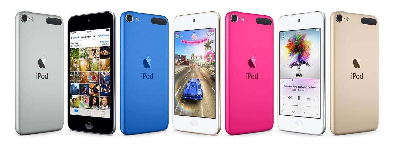 Neuer iPod touch in neuen Farben.