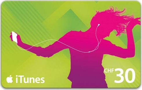 iTunes Karte CHF 30