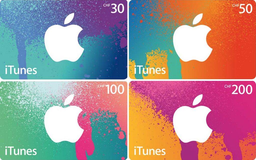 iTunes Geschenkkarten