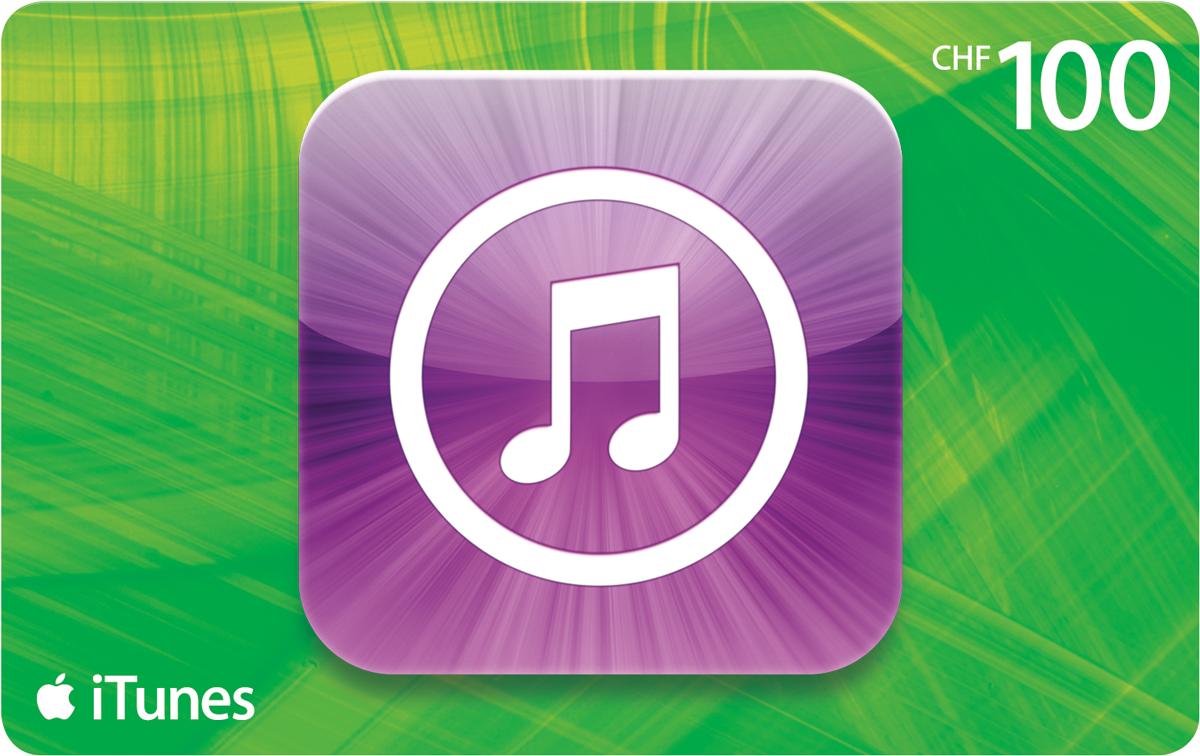 100 Franken iTunes-Karten jetzt 20 Franken günstiger.
