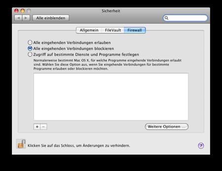 Mac OS X Leopard und die Sicherheit