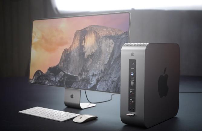 Konzept von einem modularen Mac Pro.