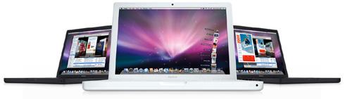 MacBook mit Mac OS X Leopard