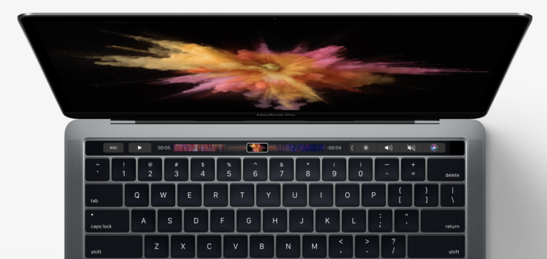 MacBook Pro 2017 mit Touch Bar und Touch ID
