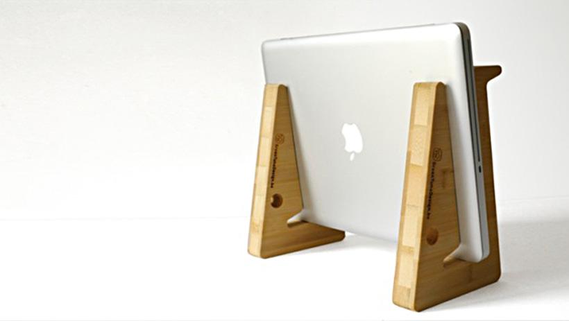 Ein flexibler MacBook-Ständer aus Belgien
