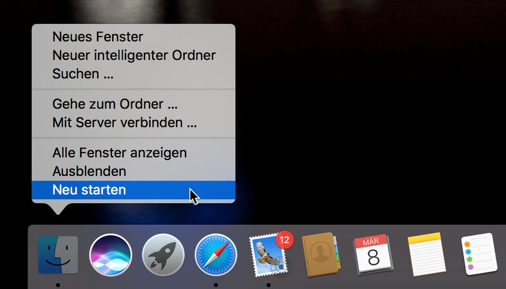 macOS Sierra Dock