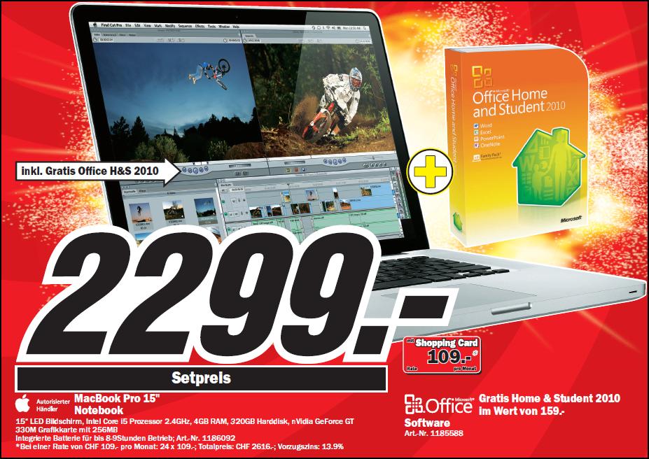 Media Markt verkauft MacBook Pro mit Microsoft Office für Windows ...