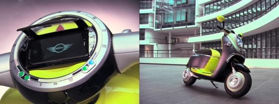 Scooter von BMW Mini mit iPhone