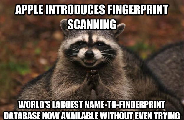 NSA reaction to Apple Fingerprint-Scanning