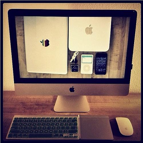 Apple Produkte organisiert