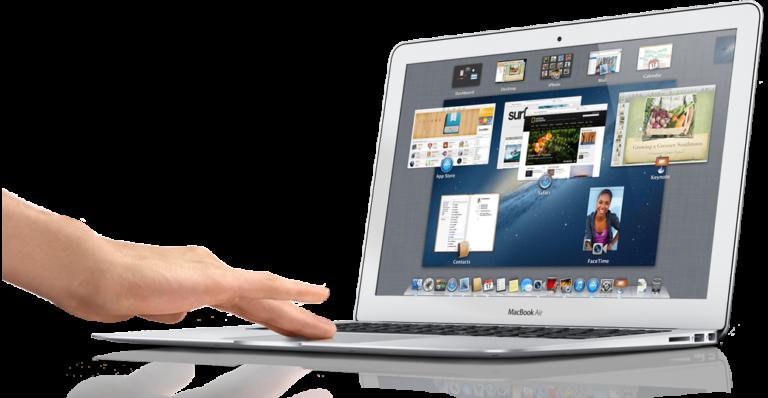 Berühre das MacBook Air
