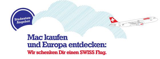 Mac kaufen und Europa entdecken: Wir schenken Dir einen SWISS Flug.