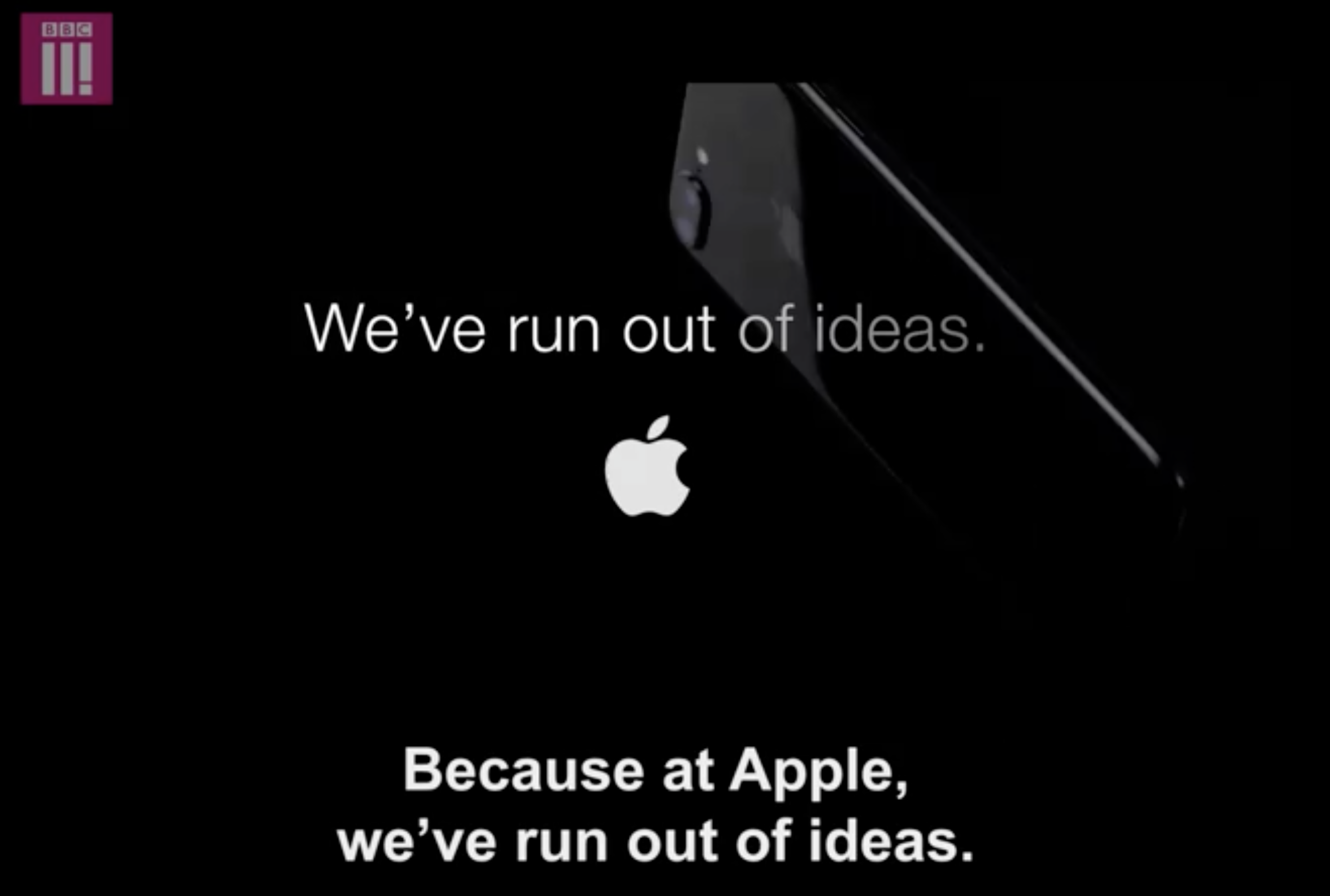 """At Apple, we've run out of ideas""…"