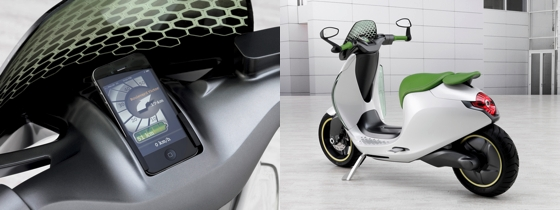 Scooter von Smart mit dem iPhone