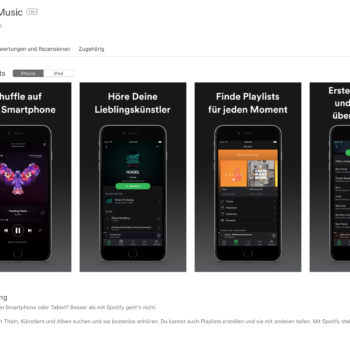 Spotify im Apple App Store