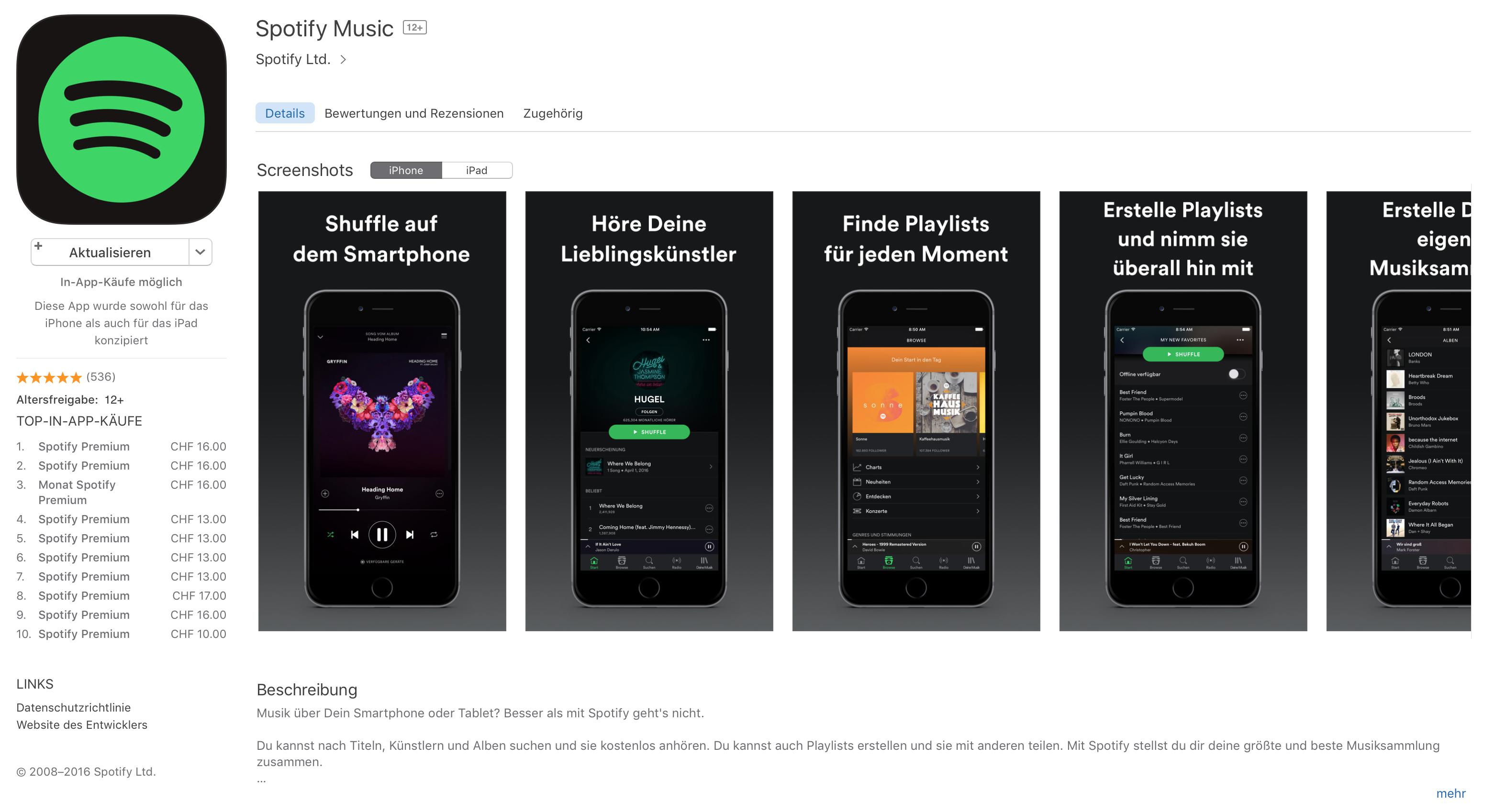 Spotify zankt sich mit Apple Music.