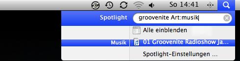iTunes mit Spotlight starten