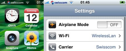 Swisscom Carrier Logo iPhone