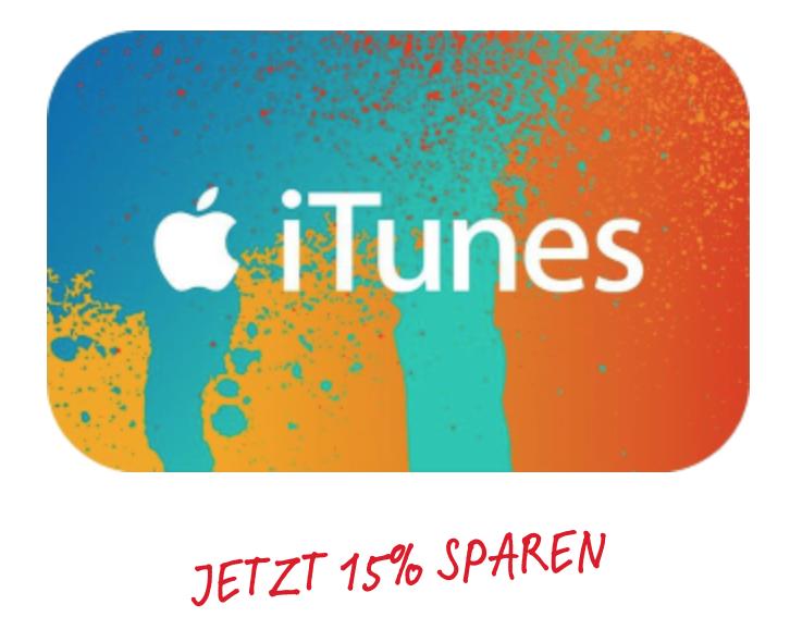 Swisscom iTunes Guthaben 15% günstiger