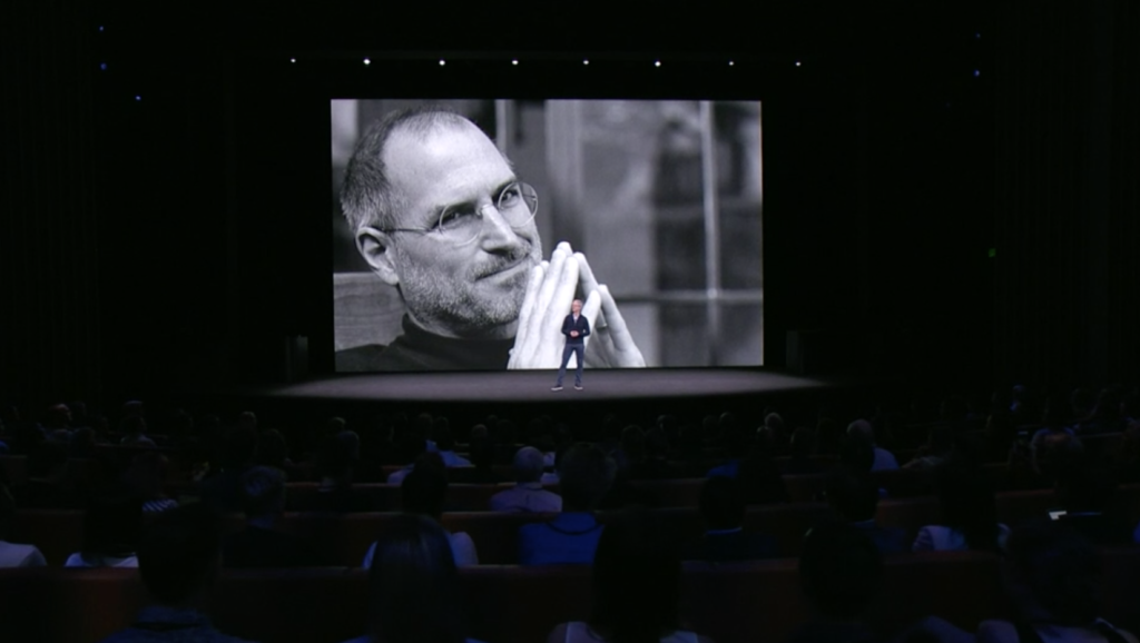Tim Cook im Steve Jobs Theater