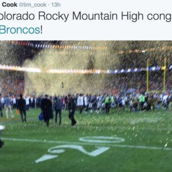 Tim Cook Twitter Super Bowl