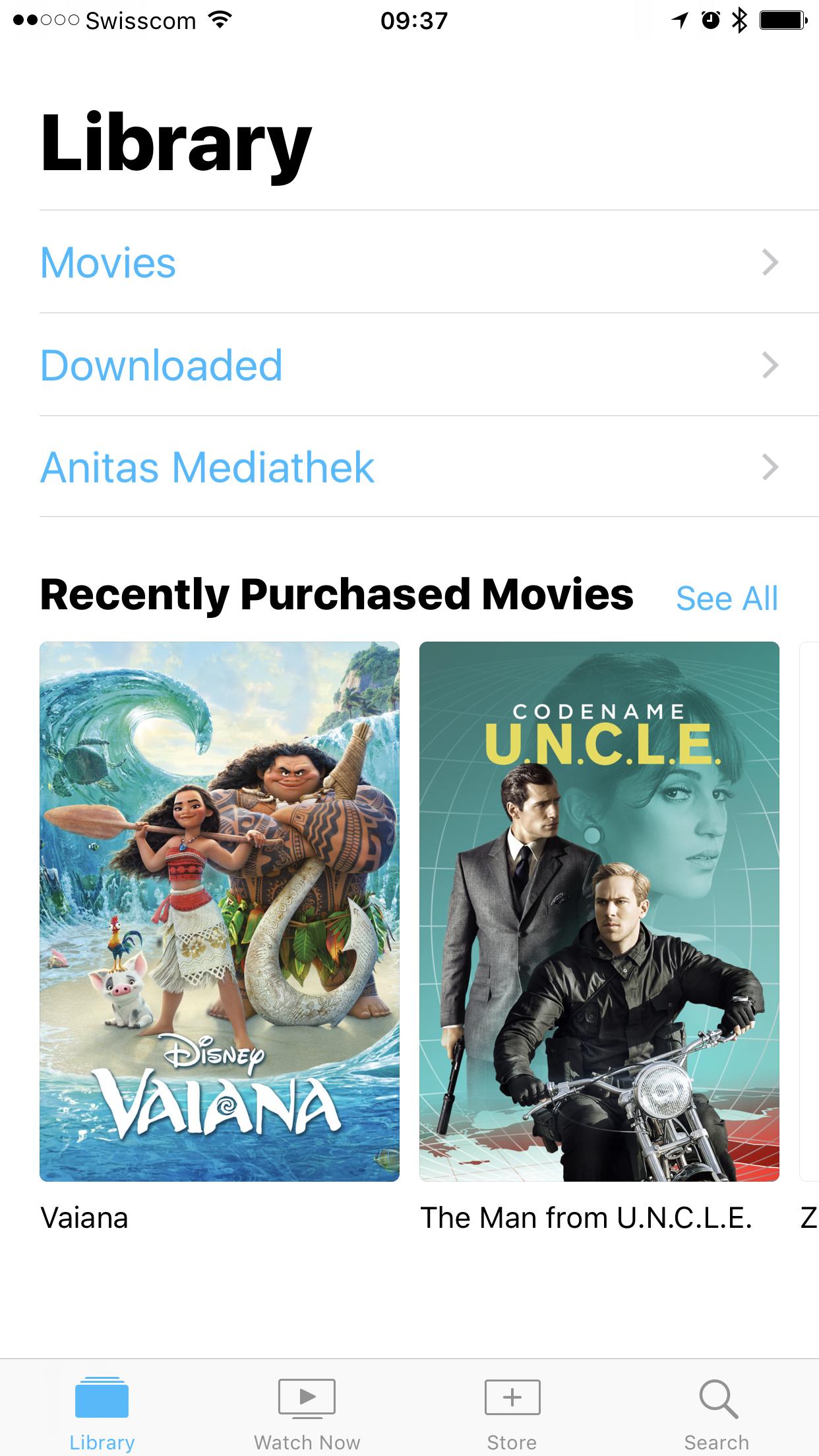 TV App Bibliothek