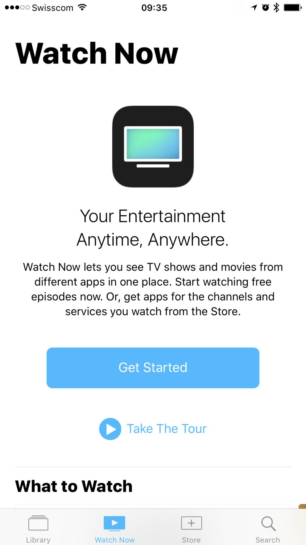 TV App Intro
