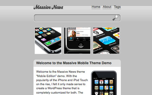 Wordpress Theme speziell für iPhone Inhalte