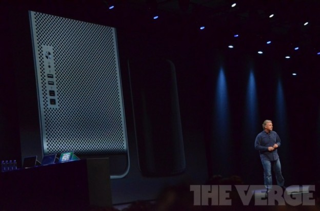 Der Mac Pro ist wesentlich kleiner als der Vorgänger